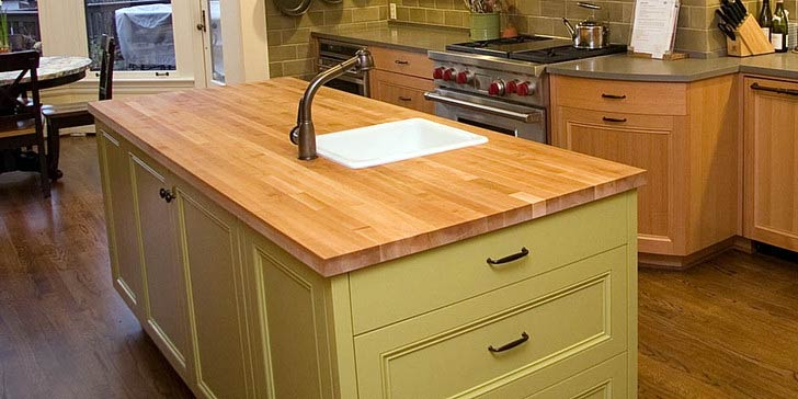 Table top kayu untuk kitchen set