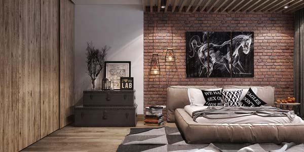 desain kamar tidur bata ekspose