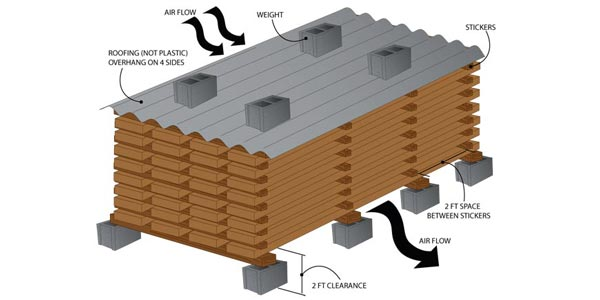 pengeringan udara pada kayu