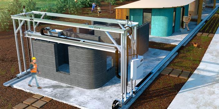Mesin Cetak Bangunan 3D