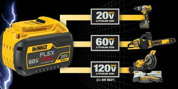 Dewalt flexvolt sistem baterai canggih