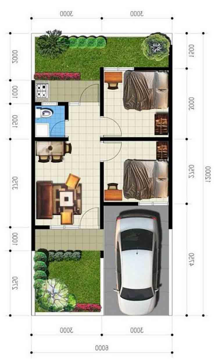 Ide Terpopuler 54+ Desain Rumah Type 36 Dengan Toko