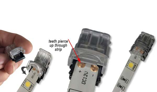 Konektor led strip untuk menghubung lampu led