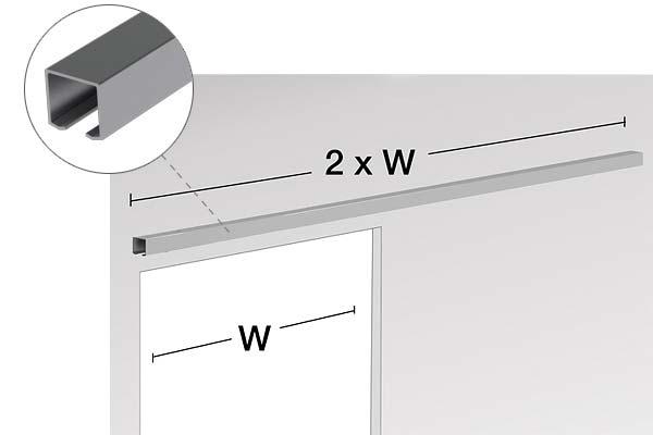 Rel pintu sliding untuk menjaga jalur roda