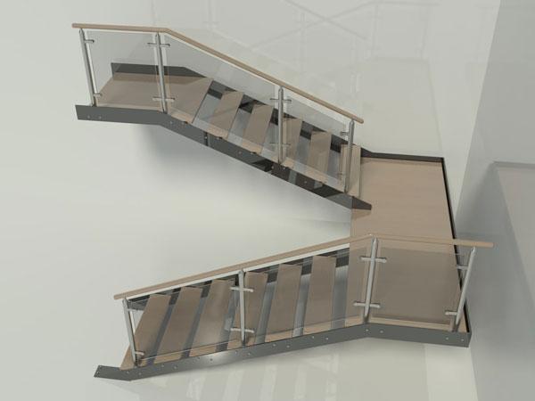 tangga bentuk U