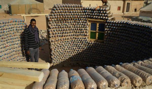 material botol plastik untuk bangunan rumah