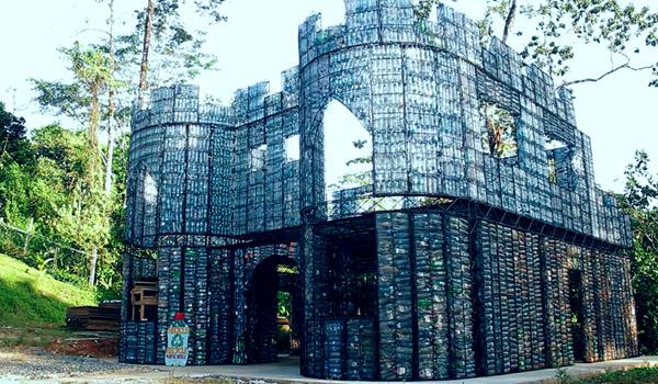 material botol plastik untuk bangunan