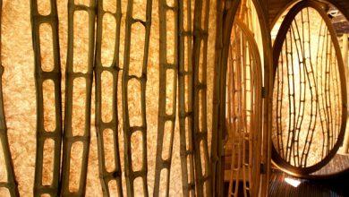 penggunaan material bambu untuk eksterior
